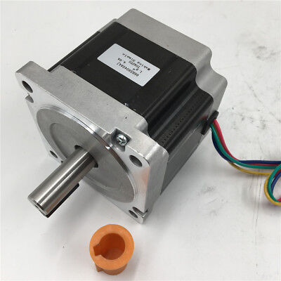 9.5nm Nema34 Keyway Stepper Motor 1357oz.in L126mm 6a 4wire For Cutting Machine