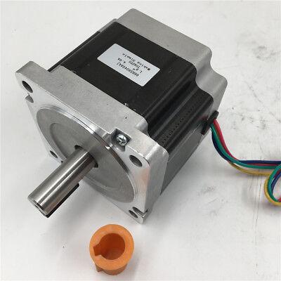 9.5nm Nema34 Keyway Stepper Motor 1357oz.in L126mm 6a 4wire For Cutting Machine