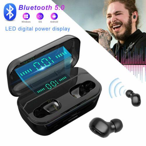 Mini TWS Bluetooth 5.0 Headset Stereo Wireless Earbuds Headp
