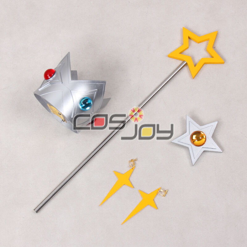 Super Mario Galaxy Rosalina Wand, Crown, Pin and Earrings Cosplay Props -1077