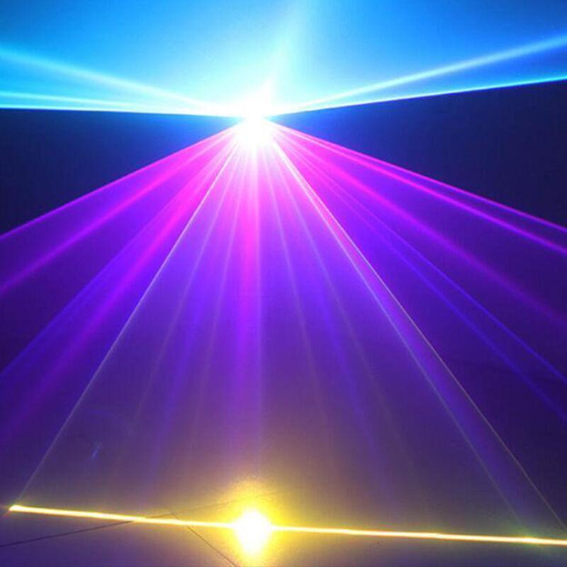 RGB 1W 1000mW DMX Full Color Animation Laser Light DJ Stage Effect 3D Laser Show