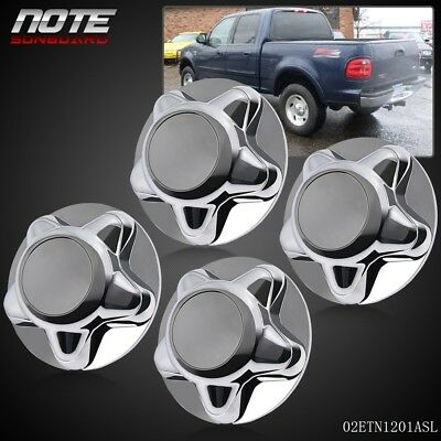 "4 * 7"" Wheel Chrome Hub Caps Center Cap-Part Durable For F150 & Expedition 97-03 for sale  USA"