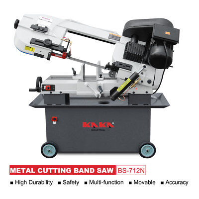 Kaka Bs-712n 7x12-in Metal Cutting Bandsaw Solid Construction Metal Band Saw
