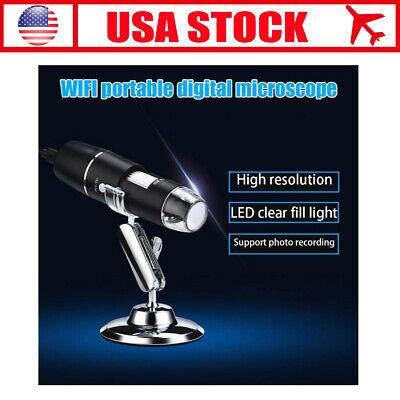 Wifi 1000x 8led Digital Microscope Microscopio Recorder For Androidios Phone
