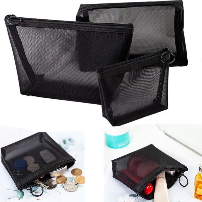 Zipper Toiletry Bag Mesh Package Makeup Bags Travel Organize