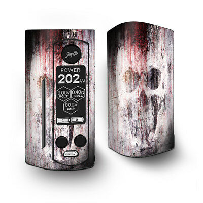 Skin Decal for Wismec Reuleaux RX Gen3 Dual Vape / tattered skull blood skull d