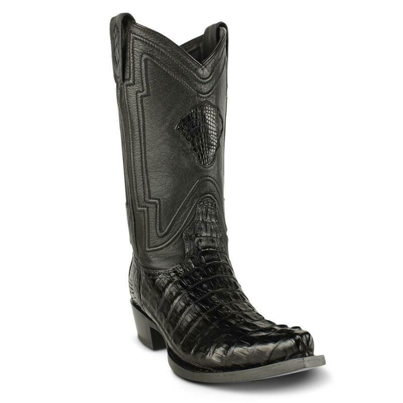 Mens, Yeehaw, Cowboy, Caiman, Tail, Boots, Snip, Toe, Handcrafted