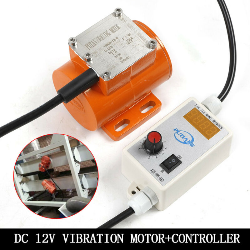 15W 12V DC Brushless Micro Vibration Motor+Speed Display Controller for Governor