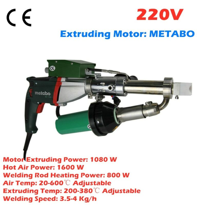 AC220V Handheld Plastic Extrusion Welder Hot Air Extruder 5001B Plus