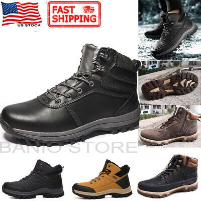 Men's Snow Boots Hiking Shoes Ankle Winter Warm Walking Military Tactical N1