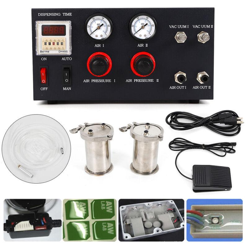 2 Mode Glue Dispenser for AB Glue, Epoxy Resin Digital Control Manual/Semi-Auto