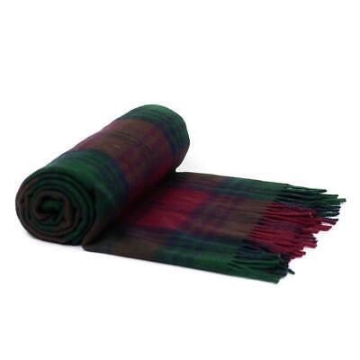 Wool Tartan Blankets (Border Tweeds 100% Wool Scottish Tartan Blankets / Throws / Rug - Lindsay )