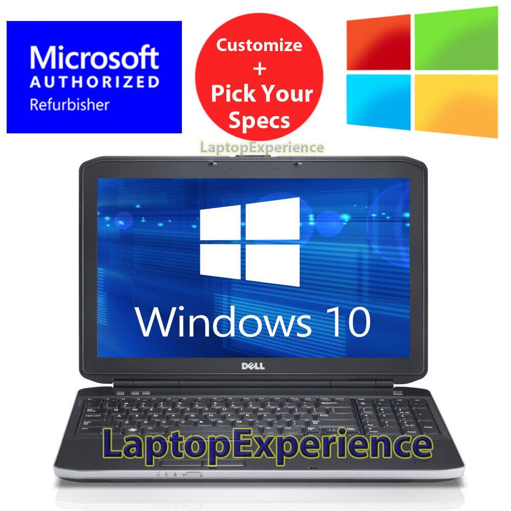 "Laptop Windows - DELL LAPTOP LATiTUDE CORE 4GB-8GB 250GB-1TB HD SSD 15.6"" DVD WINDOWS 10 WiFi PC"