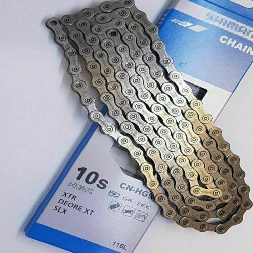 F/Shimano Deore XT 10 Speed Bike Chain HG-X CN-HG95 116L DynaSys XTR SLX Sil-Tec