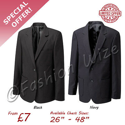 Купить Russell - School Uniform Boys Mens Girls Ladies Blazer Jacket Navy Black Badgeable 26-48