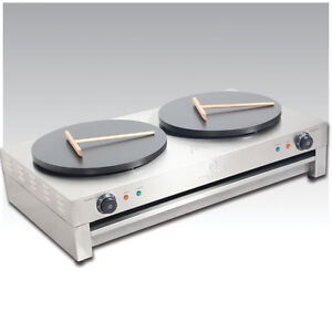 6kw Double Crepe Maker and Pancake Machine - Electric Hotplate Premier Range