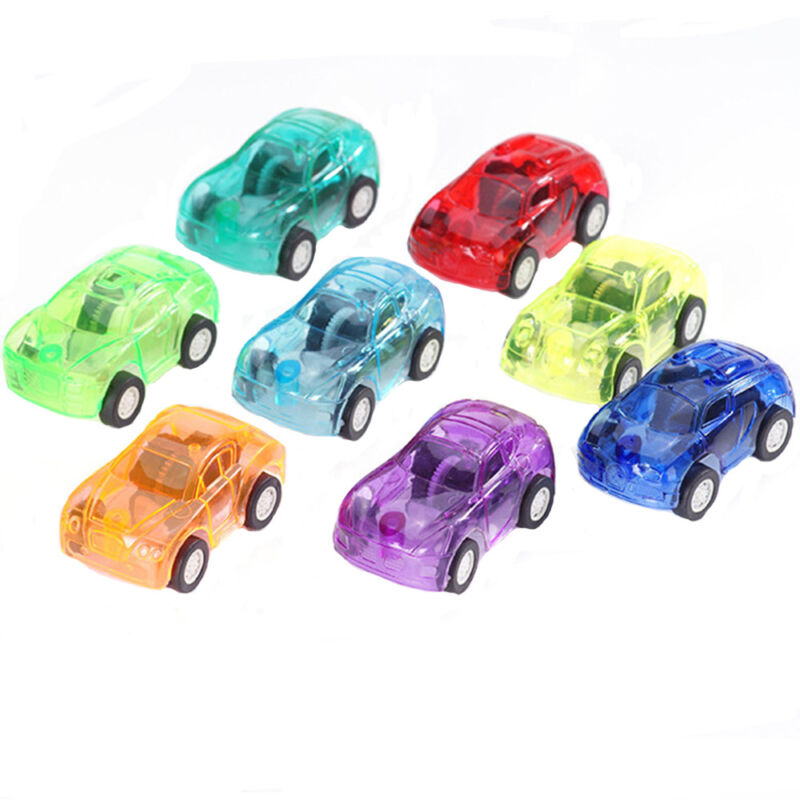 5Pcs Multi-color Cute Inertia Pull Back Car Transparent Car Model Toys For Child