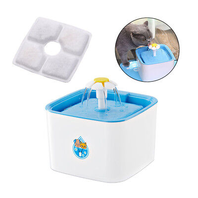 Automatic Cat Dogs Water Fountain Drinking Feeder Pet Bowl Dish Filter Dispenser