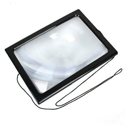 Large A4 Page Magnifier Reading Hands Free 3x Magnifying Glass With Light LED US 3x Hand Magnifier
