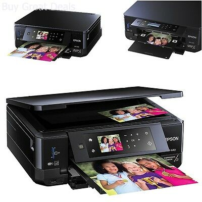 Wireless Inkjet All-In-One Photo Scanner Copier Printer-Printable CD DVD - NEW