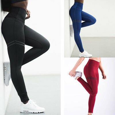 Womens Sports Workout Gym Fitness Leggings Pants Jumpsuit Athletic Clothes DS