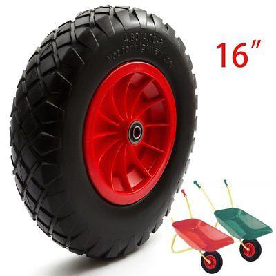 Puncture Proof Solid Wheelbarrow Wheel and Tyre 3.50-8 Sack Truck Go Kart UKTA