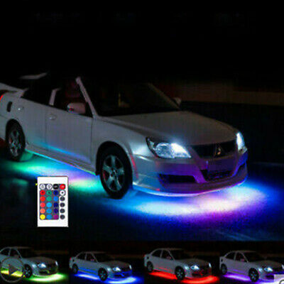 For Car Truck Interior Decor Neon Atmosphere LED Light Strip RGB Colors+Remote