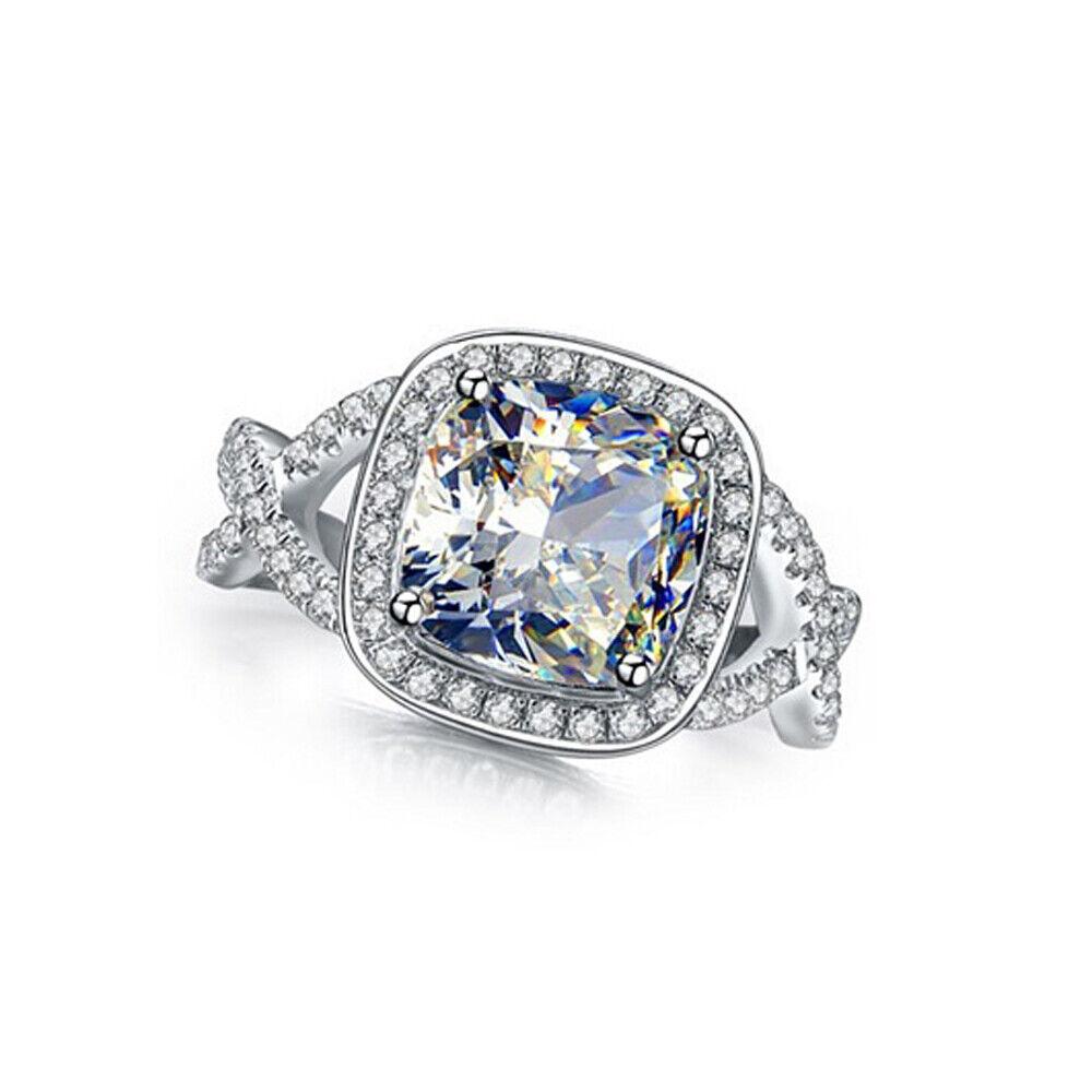 GIA Certified Diamond Engagement Ring 1.90 carat Cushion Cut 18k White Gold
