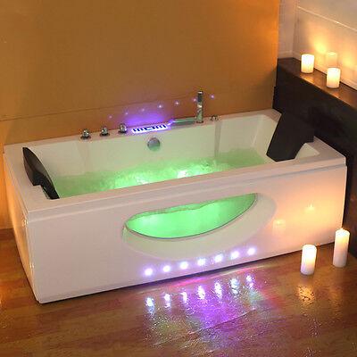 1700 Whirlpool Corner Bath Shower Spa Jacuzzi Straight 2 person Bathtub Stander