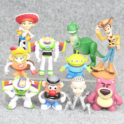 Toy Story Woody Buzz Lightyear Rex Alien Bear 10 PCS Action Figure Doll Gift - Woody Lightyear