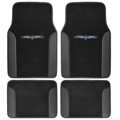 Tattoo Design Floor Mats for Car SUV Van 2 Tone 4 Piece Black Secure Backing - Lacrosse Tattoos