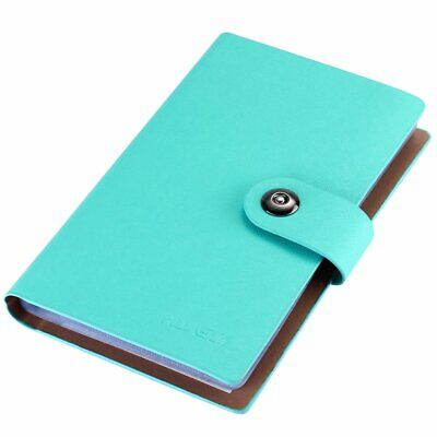 Business Card Holder Book Pu Leather 300 Name Cards Organizer Blue