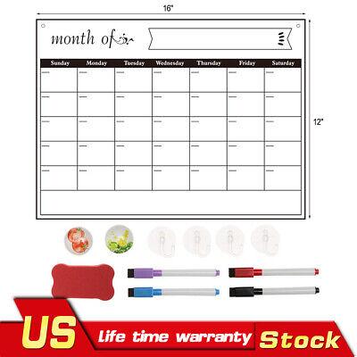 Fridge Dry Erase Calendar Magnetic Stainless Steel Calendar Better Daily