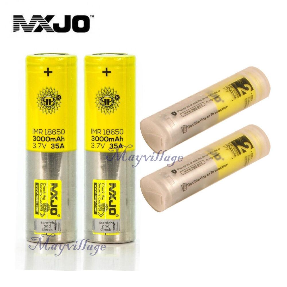 Изображение товара 2 PCS MXJO IMR 18650 3000MAH 35A 3.7V Flat Top High Drain Rechargeable Battery