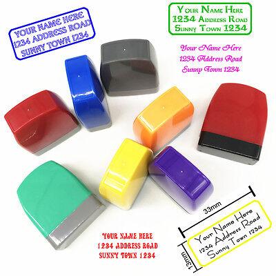 Self Ink Personalized Rubber Stamp Return Business Address Stamp Monogram Stamp