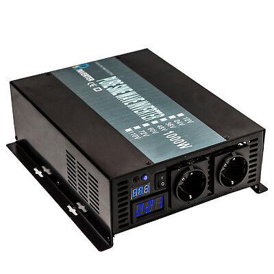 Pure Sine Wave Inverter 1000w DC to AC Converter 24V 230V 50Hz Europe Plug