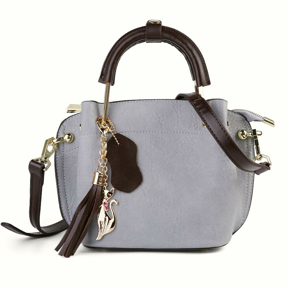 0bff90dd973a3 Women Genuine Leather Small Top Handle Shoulder Bag Purse Satchel Tote  Handbag