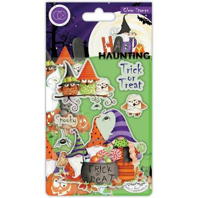 HALLOWEEN Happy Haunting Clear Rubber Stamp Set Craft Consortium CCSTMP052 New