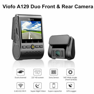 "Viofo A129 Duo Dual Lens PIP 2"" LCD Wi-Fi GPS Car Dash Cam Parking Mode G-Sensor"