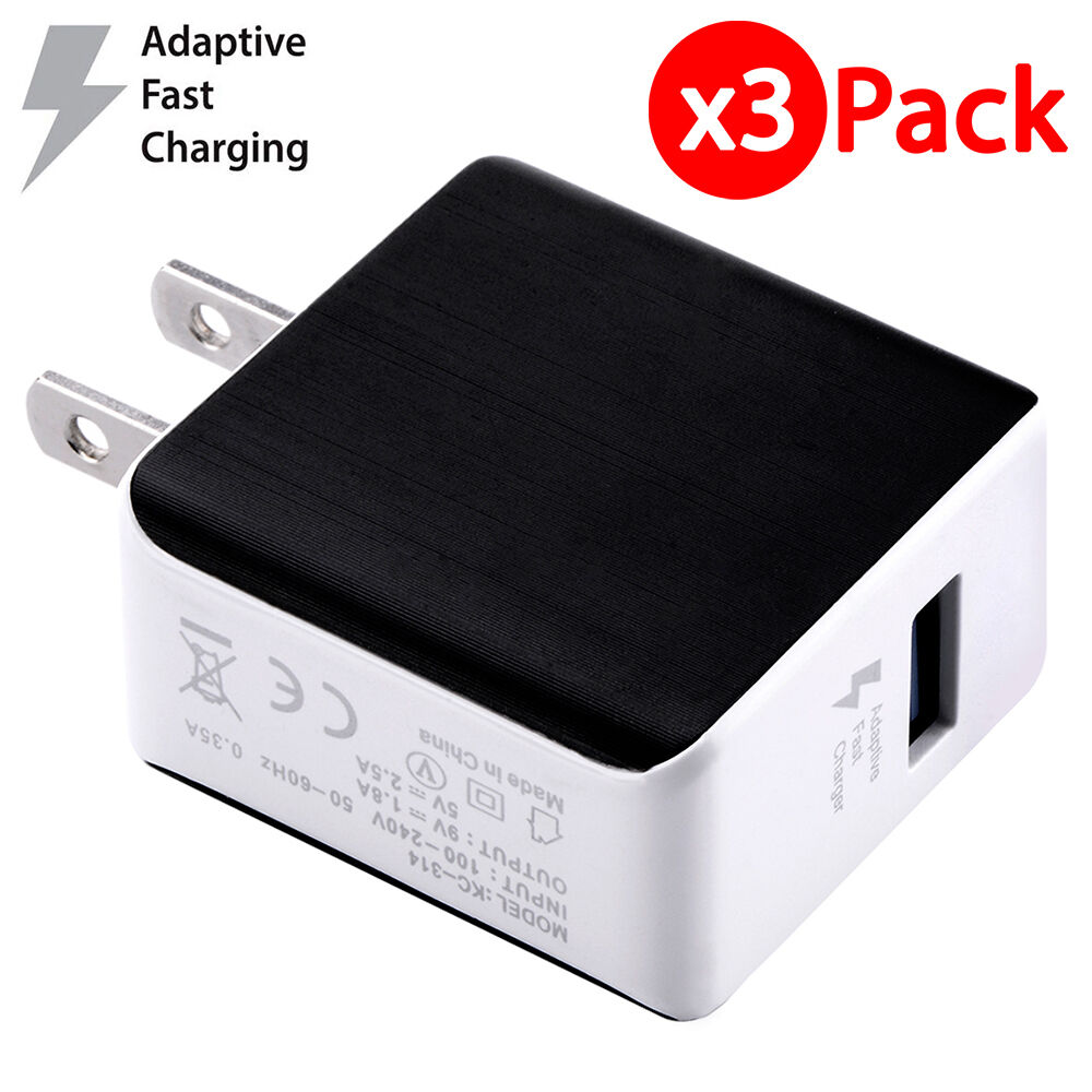 3x 3A USB Wall Charger Fast Charge 3.0 Power Adapter For iPh