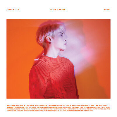 ▶◀SHINEE JONGHYUN POET ARIST Posthumous work Album CD+Booklet+Etc Sealed