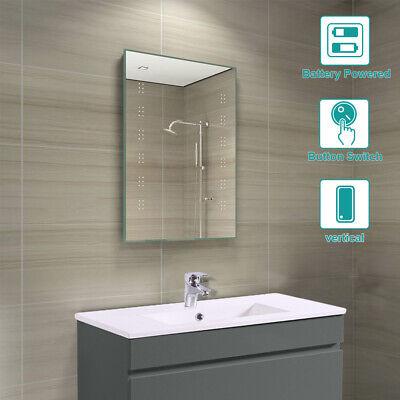 Modern Battery Operated Illuminated LED Bathroom Wall Mounted Mirror 700 x 500mm