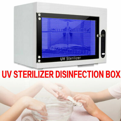 Nail Sterilizer Cleaner Box Disinfecting Machine Tool Uv Disinfection Cabinetnew