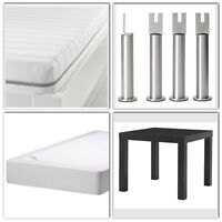 Foam Mattress with Base Foundation and Side Table