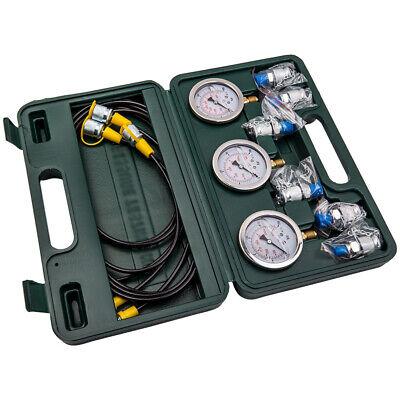 Hydraulic Tester Pressure Test Gauge Diagnostic Coupling Tool Set Excavator