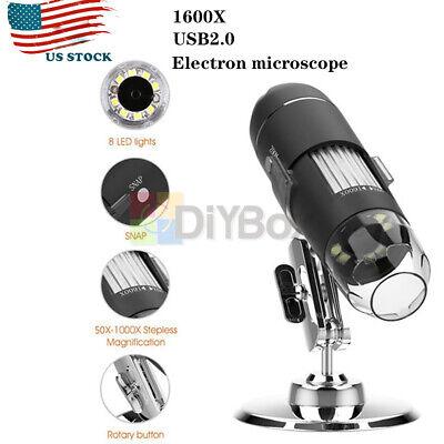 8led 10001600x 10mp Usb Digital Microscope Endoscope Magnifier Camera W Stand
