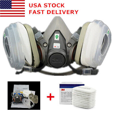 Big Discount Half Face Mask For 3m 6200 Gas Painting Spray Protection Respirator