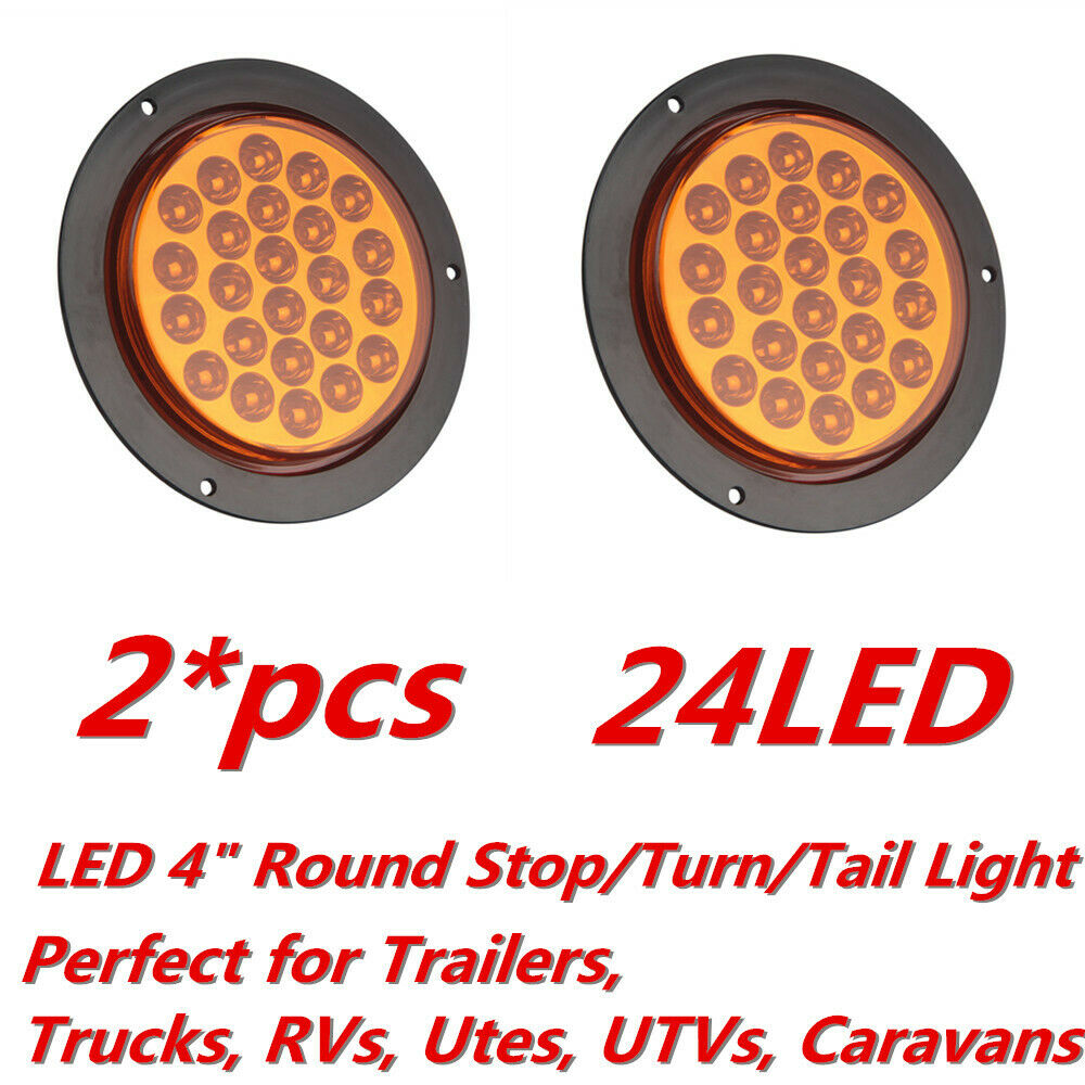 Sale  2x 4 U0026quot  Round 24 Led Truck Trailer Stop Turn Tail