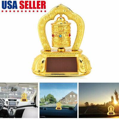 Tibetan Tibet Buddhist Solar Energy Spinning Prayer Wheel Auto Car Interior GIFT