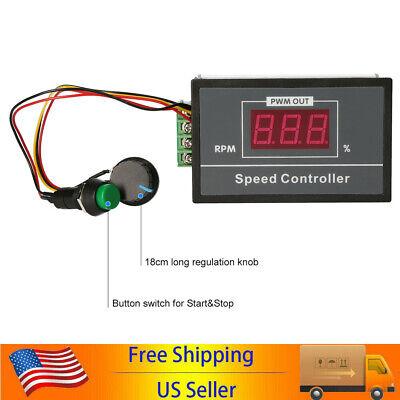 Dc6-60v 12v 24v 36v 48v 30a Pwm Motor Speed Controller Start Stop Switch Te1256